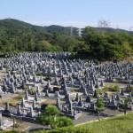 豊田市古瀬間墓地にて