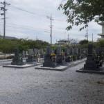 田原市の寺院様墓地にて