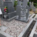 豊橋市営飯村墓地にて