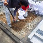 豊橋市営飯村墓地で基礎工事です。
