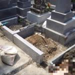 豊川市 お寺様の墓地にて巻石工事です。
