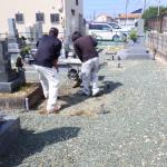 豊川市小坂井町の墓地で基礎工事です。