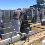 豊橋市 地域墓地にて戒名追加彫刻です。