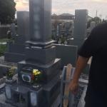 豊橋市営飯村墓地にて、お客様と打ち合わせです。