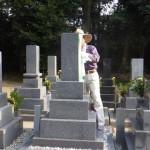 豊橋市 お寺様の墓地にて