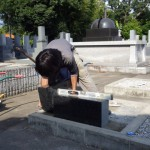 豊橋市 お寺様の墓地で墓石工事です。