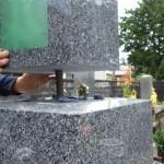 豊橋市 お寺様の墓地にて墓石工事です。