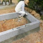 豊川市 地域墓地にてお墓工事です。