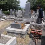 静岡県湖西市 地域墓地にてお墓の解体工事です。