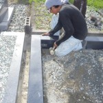 豊橋市営飯村墓地にて外柵工事です。