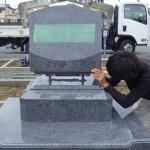 豊橋市の地域墓地にてお墓工事です。
