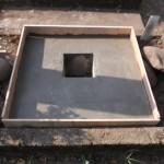 新城市 お寺様の墓地にて基礎工事です。