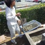 豊橋市 地域墓地にてお墓の傾き直しと補強工事です。