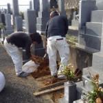 豊橋市 地域墓地にて基礎工事です。
