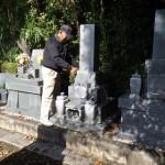 浜松市雄踏町墓地にて お墓の耐震補強のご相談です。
