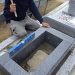 豊橋市営飯村墓地にてお墓の工事です。