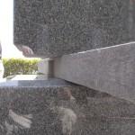 湖西市 湖西市営利木墓園にてお墓の工事です。