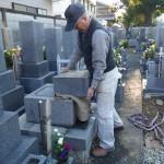 豊橋市のお寺様の墓地にてお墓じまいです。