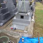 豊橋市営向山霊苑にてお墓の工事です。