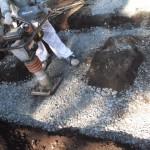豊橋市 大浦地域墓地にて基礎工事です。