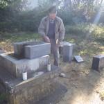 豊橋市 地域墓地にて建て替えのための墓石解体工事です。