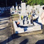 豊橋市 お寺様の墓地にてお墓の建て替えのご相談です。