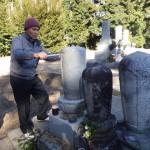 豊橋市 お寺様の墓地にて計測と打ち合わせです。