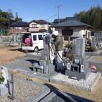 豊橋市 萩平共同墓地にて霊名の追加彫刻です。