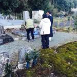 豊橋市 神郷地域墓地にてお精抜きの立ち合いです。