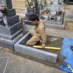 豊橋市 お寺様の墓地にて外柵工事です。