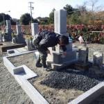豊橋市 お寺様の墓地でお墓のリフォーム工事です。