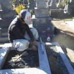 豊橋市 豊橋市営向山霊苑にてお墓のリフォーム工事です。