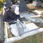 豊橋市営向山霊苑にてお墓の引っ越しのための外柵工事です。