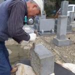 豊橋市営向山霊苑にてお墓のリフォーム工事です。