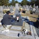豊橋市営向山霊苑にて墓石工事です。