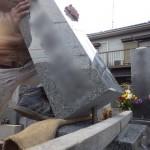 豊川市 お寺様の墓地にてお墓の工事です