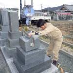 豊橋市のお寺様にてお墓の工事です。
