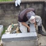 豊川市 お寺様の墓地にて墓石工事です。