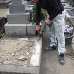 豊橋市 お寺様の墓地にてお墓の建て替え工事です。