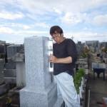 豊橋市 お寺様の墓地にて墓石の工事です。
