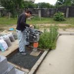 豊橋市 お寺様の墓地にて基礎工事 鉄筋をしっかり組み上げて地震に強い基礎コンクリートを仕上げます。