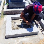 豊橋市営飯村墓地 墓石工事のご紹介 経年や地震に強いお墓の耐震施工 免震工法もご相談ください!