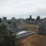 豊橋市 地域墓地でのお墓の新規建立のご相談 傾斜地での基礎工事 最適な工事と正確なお見積りを心掛けております。