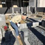 豊橋市の大岩霊園にてお墓のリフォーム工事です。既存のお墓をより美しく、より丈夫な仕上がりにリフォームさせて頂きます。
