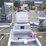 豊橋市のお寺様の墓地にてお墓の工事です。お施主様のご要望に合わせたお墓づくりに取り組みます。